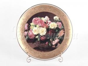 """Тарелка настенная """"Цветы 1323"""" 33см."""