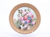 """Тарелка настенная """"Цветы 1419"""" 33см."""