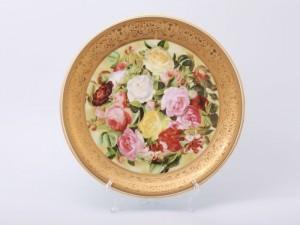 """Тарелка настенная """"Цветы 1493"""" 33см."""