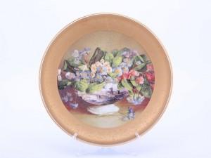 """Тарелка настенная """"Цветы 1520"""" 33см."""