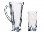 "Набор для воды 7 пред. ""Квадро"" кувшин 1,1 л и 6 стаканов 350 мл"