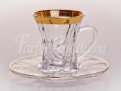 """Набор для чая """"Кристалайт — 375479"""" (чашка90мл.+155мл.блюдце) на 6перс.12пред."""