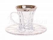"""Набор для чая """"Кристалайт — 375495"""" (чашка90мл.+155мл.блюдце) на 6перс.12пред."""