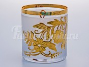 "Набор стаканов ""Цветы-Декор 1"" 280 мл золото"
