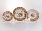 """Набор тарелок для сервировки стола """"Мария - Охота медовая"""" 18 шт"""