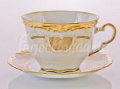 """Набор для каппучино """"Симфония золотая 427"""" чашка 0.40л. и блюдце"""