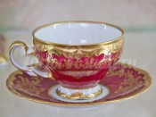 """Набор для чая """"Ювел красный 876/1"""" чашка 160мл. и блюдце на 6 перс. 12 пред."""