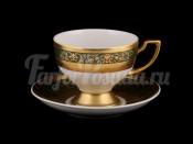 """Набор для чая """"Люксус зеленый""""(чашка170мл.+блюдце) на 6перс.12пред."""
