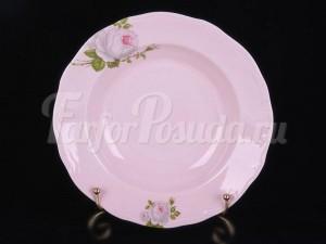 """Набор тарелок """"Алвин розовый 6076"""" 24см. 6шт. глубокая"""