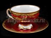 """Набор чашек для чая """"Кленовый лист красный 8020"""" 210мл. 6шт."""