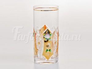 """Набор стаканов """"Хрусталь с золотом"""" 380 мл."""