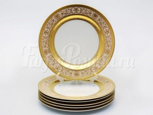 "Набор тарелок ""Люксус бежевый"" 26см. 6шт."