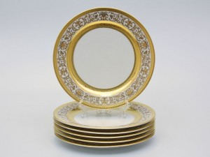 "Набор тарелок ""Люксус белый"" 22см."