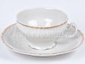 """Набор для чая """"Бернадот 500012"""" чашка 205 мл и блюдце низкие"""