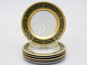 """Набор тарелок """"Люксус зеленый"""" 17см. 6шт."""