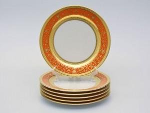 """Набор тарелок """"Люксус оранжевый"""" 22см."""