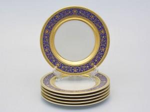 """Набор тарелок """"Люксус синий"""" 17см. 6шт."""