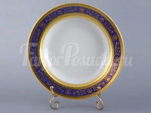"""Набор тарелок """"Люксус синий"""" 24см. 6шт. глубокая"""
