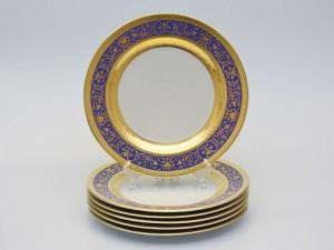 """Набор тарелок """"Люксус синий"""" 26см. 6шт."""