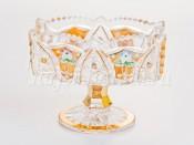 """Ваза для конфет """"Хрусталь с золотом"""" 12 см."""