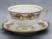 "Набор для чая ""Барокко золото""(чашка200мл.+блюдце) на 6перс.12пред."