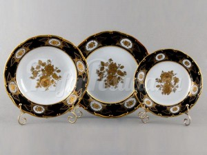 """Набор тарелок для сервировки стола """"Роза золотая АГ846"""" 18шт."""