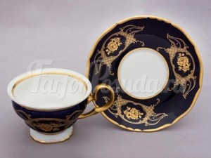 "Набор для чая ""Роза золотая АГ847""(чашка+блюдце)160мл. на 6перс.12пред."