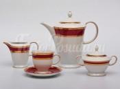 """Сервиз чайный """"Верона красная"""" на 6перс.15пред."""