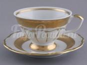 "Набор для чая ""Лента золотая матовая1""(чашка200мл.+блюдце) на 6перс.12пред."