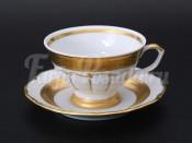 "Набор для чая ""Лента золотая матовая2""(чашка200мл.+блюдце) на 6перс.12пред."