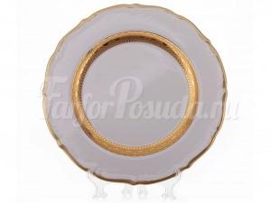 """Набор тарелок """"Лента золотая матовая1"""" 19см. 6шт."""