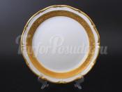 """Набор тарелок """"Лента золотая матовая2"""" 24см. 6шт."""