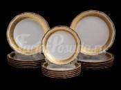 """Набор тарелок для сервировки стола """"Лента золотая матовая2"""" 18шт."""
