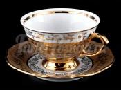 "Набор для чая ""Лист бежевый""(чашка200мл.+блюдце) на 6перс.12пред."