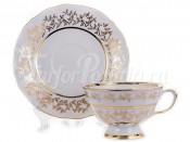 "Набор для чая ""Лист белый""(чашка200мл.+блюдце) на 6перс.12пред."