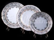 "Набор тарелок для сервировки стола ""Лист белый"" 18шт."