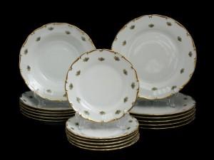 """Набор тарелок для сервировки стола """"Полевой цветок 851"""" 18шт."""