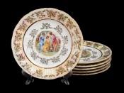 "Набор тарелок ""Мадонна зеленая"" 19см. 6шт."
