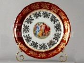 "Набор тарелок ""Мадонна красная"" 19см. 6шт."