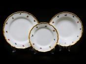 """Набор тарелок для сервировки стола """"Полевые цветы АГ852"""" 18шт."""