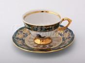 "Набор для чая ""Охота зеленая""(чашка150мл.+блюдце) на 6перс.12пред."