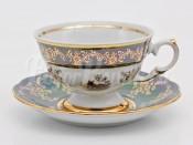 "Набор для чая ""Охота зеленая""(чашка200мл.+блюдце) на 6перс.12пред."