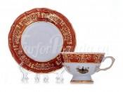 "Набор для чая ""Охота красная""(чашка200мл.+блюдце) на 6перс.12пред."