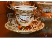 "Набор для чая ""Охота медовая""(чашка150мл.+блюдце) на 6перс.12пред."
