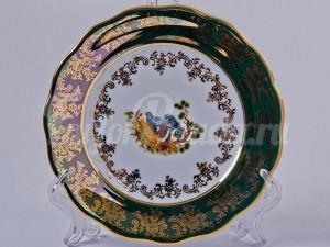 "Набор тарелок ""Охота зеленая"" 17см. 6шт."