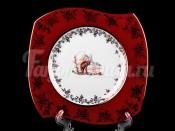 """Набор тарелок """"Охота красная софт"""" 25,5см. 6шт."""