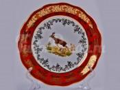"Набор тарелок ""Охота красная"" 17см. 6шт."