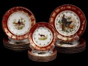 "Набор тарелок для сервировки стола ""Охота красная"" 18шт."