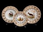 """Набор тарелок для сервировки стола """"Охота медовая"""" 18шт."""