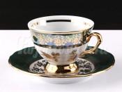 "Набор для кофе мокко ""Роза зеленая""(чашка100мл.+блюдце) на 6перс.12пред."